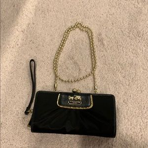 Coach wristlet/wallet on a chain